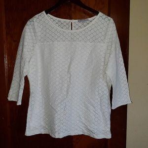 🆕️ Per Una White 3/4 Sleeve Blouse Sz 16